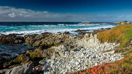 Ocean near Pebble beach, Pebble Beach, Monterey Peninsula, California, USA