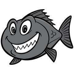 Red Snapper Fish Illustration - A vector cartoon illustration of a Red Snapper Fish.