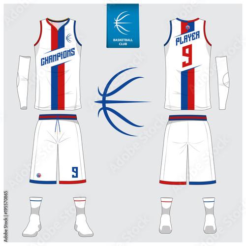 Basketball Jersey Or Sport Uniform Shorts Socks Template For