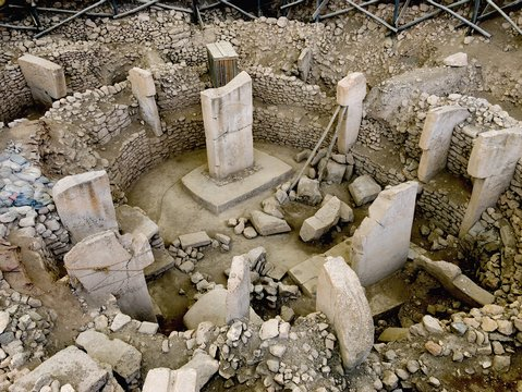 Ancient Site of Göbekli Tepe in Southern Turkey