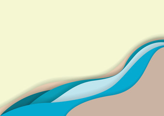 paper art of River water background