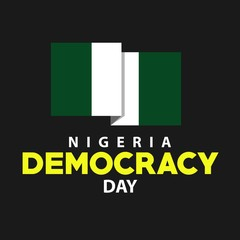 Democracy Day Nigeria Vector Template Design