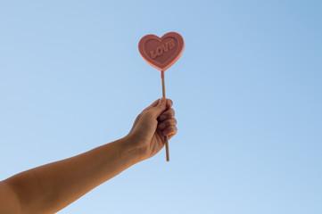 Pink Lollipop heart