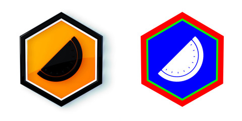 Ikona sześciobok 3D sześciokąt