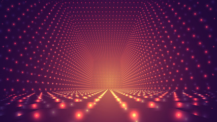 abstract vector background, bright infinite tunnel