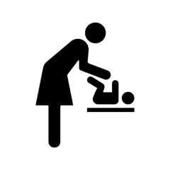 diaper change sign vector