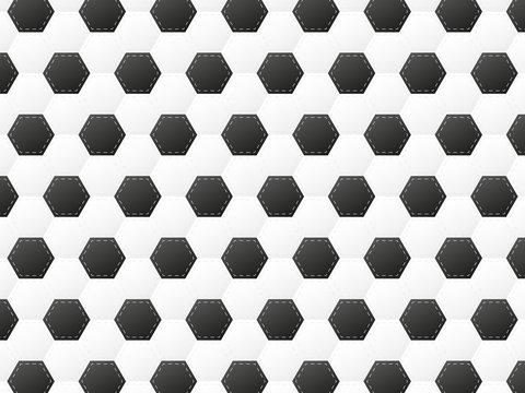 football or soccer ball pattern vector illustration
