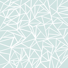 Abstract light blue or gray geometric and triangle patterns for background texture.