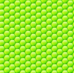 Seamless background of hexagonal honeycombs.