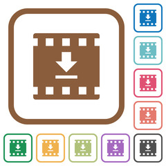 Download movie simple icons