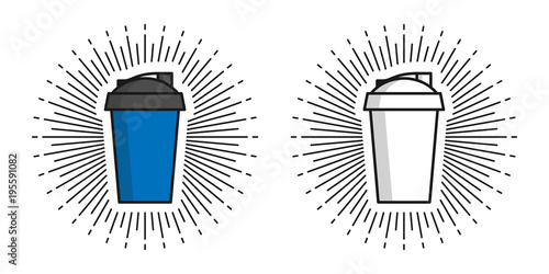 Two Shakers Vector Illustration Shakers For Protein And Sports
