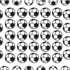 Seamless soccer ball patern