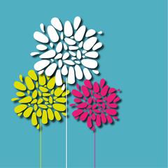 arrière-plan, fleur vecteur