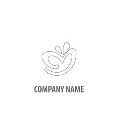 Asbtract Love Logo Design. Love Icon Design Template.