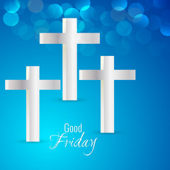 nice and beautiful abstarct for Good Friday with nice and creative design illusdtration in a background.