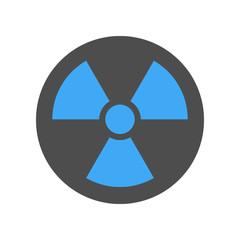 Radiation sign. Vector icon.