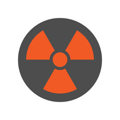 Nuclear pollution sign. Radiation icon. Vector.