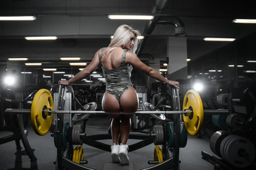 Sexy athletic young woman ass