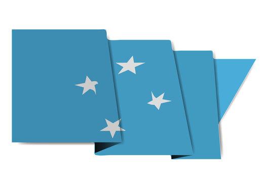 ミクロネシア  国旗 世界 アイコン