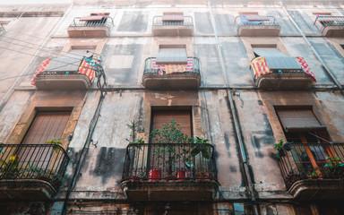 Old Spanish house facade