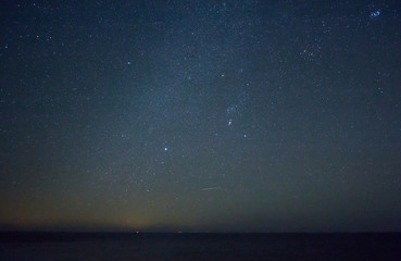 Orion and the Milky Way Over English Channel