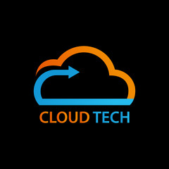cloud tech business logo