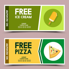 free ice cream and pizza coupon