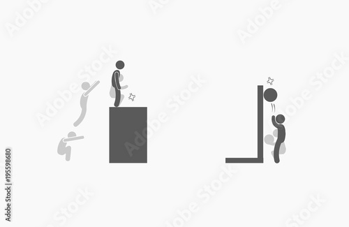 Box jump and wall ball target excercises stock photo and royalty box jump and wall ball target excercises ccuart Images