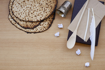 Items for searching Chametz the night before the Jewish holiday of Passover