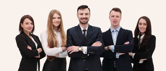 portrait in full growth. team of young business people