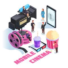 Mobile Cinema Isometric Concept