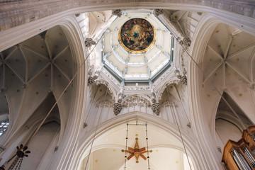 Foto auf Acrylglas Antwerpen Cathedral of our lady interior, Antwerp
