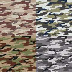 seamless camouflage pattern design