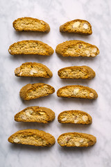 Italian cantuccini biscuits