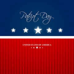 nice and beautiful abstract for Patriot Day with nice and creative design illustration in a background, 3rd Monday April.
