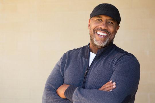 Mature African American Man Smiling