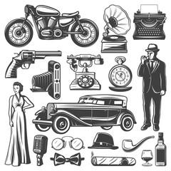 Vintage Retro Elements Set