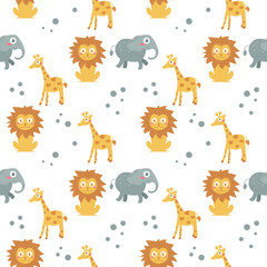Children's seamless pattern. Vector