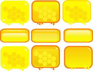 Honey square game buttons