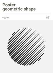 Poster minimal geometric vector shape