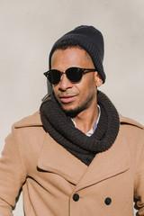 Black man in stylish sunglasses