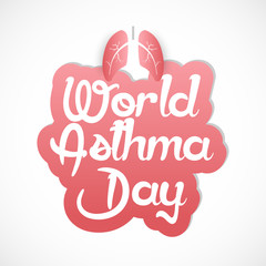 nice and beautiful abstract for World Asthma Day with nice and creative design illustration in a background.