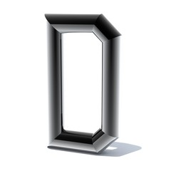 3D letters out of shiny silver stainless steel. Round pipe. Letters for engineers and heavy industry. 3D rendering.
