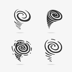 Set of Wind symbols Hurricane
