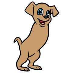 Cartoon Two Legged Dog