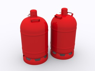 Gas Bottle isolated