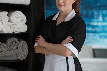Maid satisfied with own work