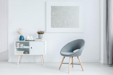 Minimalist grey living room