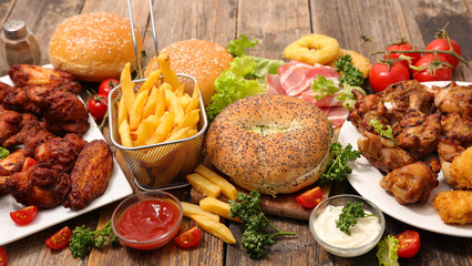 Fototapeta selection of american food obraz