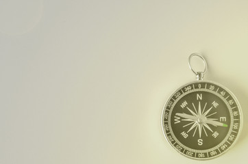 compass isolated on gray background